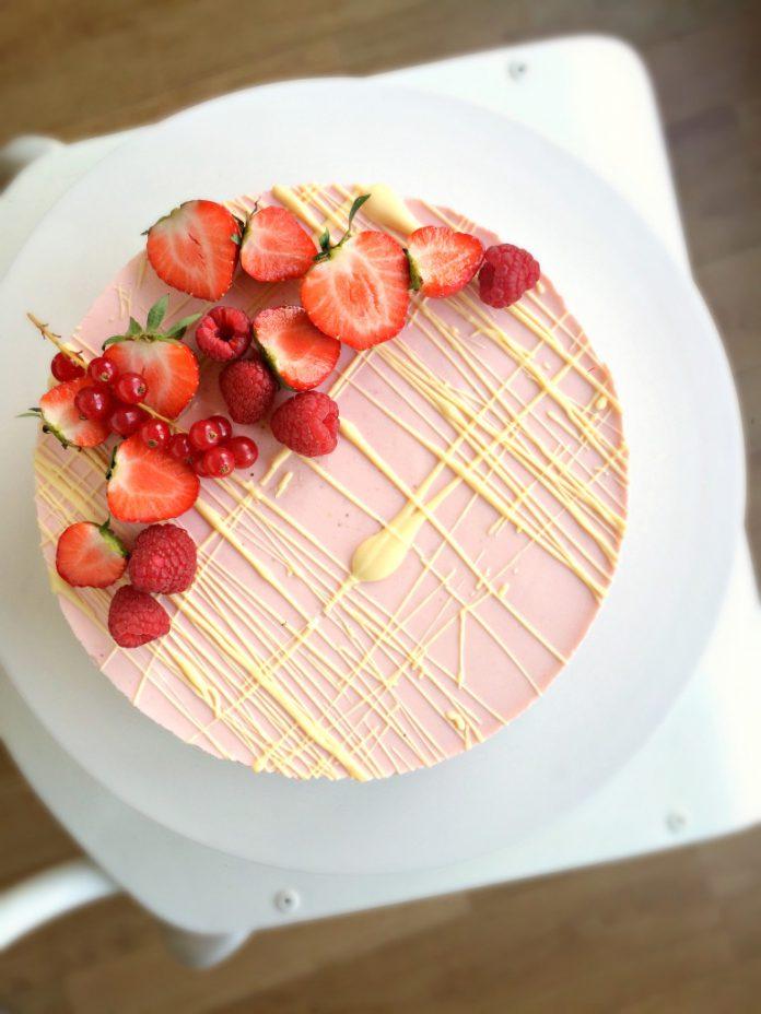 aarbeien cheesecake met witte chocolade